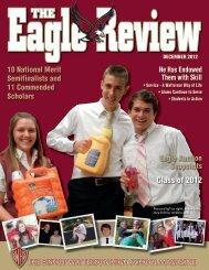 Eagle Review Dec. 2012 part 1 of 2 - Bishop Watterson High School
