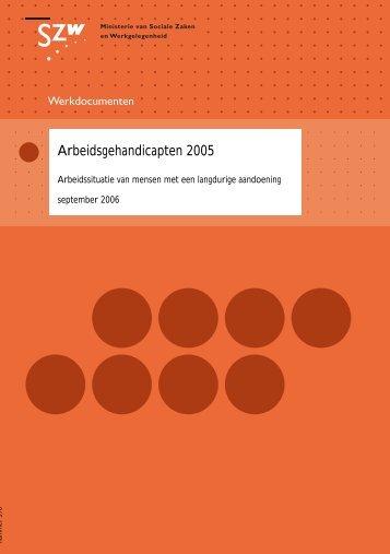 Arbeidsgehandicapten 2005 - Pagina niet gevonden