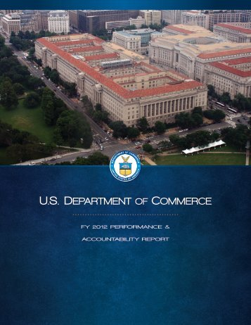 FY 2012 Performance and Accountability Report - Department of ...