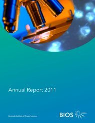 Annual Report 2011 - Bermuda Institute of Ocean Sciences