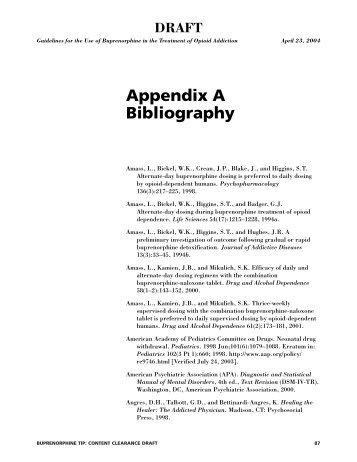 Appendix A Bibliography - California Society of Addiction Medicine