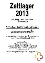 Anmeldung und Informationen für das Zeltlager Heilig Geist 2013 in ...