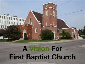 A Vision for First Baptist Church