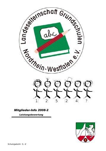Infoheft 2/2008 - Landeselternschaft der Grundschulen in NRW