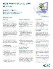 HOB RD VPN Quick Info - HOB Web