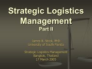 Logistics and Supply Chain Management Part I - TNSC