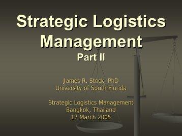 Logistics and Supply Chain Management Part I - TNSC