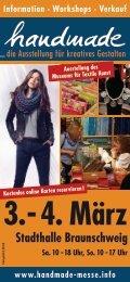 Workshops · Verkauf www.handmade-messe.info Stadthalle ...