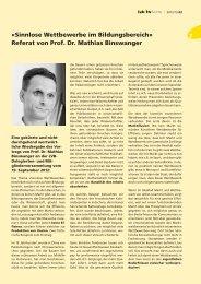 «Sinnlose Wettbewerbe im Bildungsbereich» Referat von Prof. Dr ...