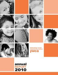 2010 Annual Report - the YWCA Cass Clay