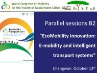 Parallel sessions B2 - EcoMobility Changwon 2011