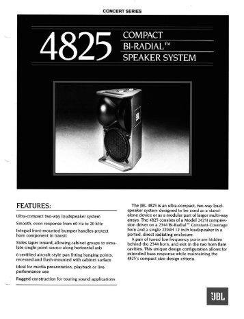 4825 - JBL Professional