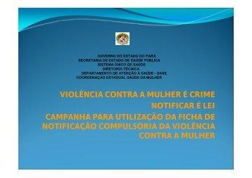 violência contra a mulher - Conselho Regional de Medicina do ...