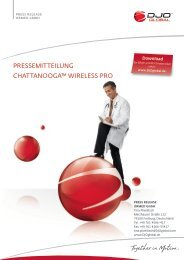 pressemitteilung chattanooga™ wireless pro - DJO Global