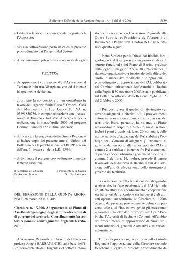 Circolare n. 1/2006 - Geologi Puglia