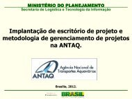 Secretaria de Logística e Tecnologia da Informação - Antaq