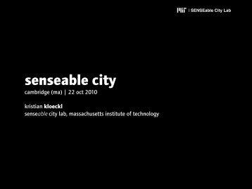 senseable city - MIT SDM