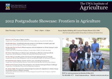 Showcase 2012 flyer and final program - The UWA Institute of ...