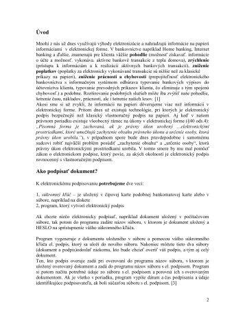 Elektronický podpis a jeho využitie v praxi - SZM.sk