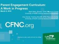 Parent Engagement Curriculum - College Foundation of North ...