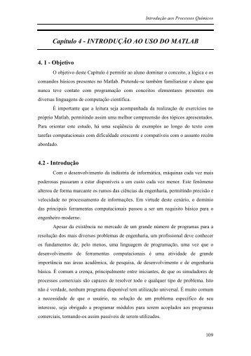 Capítulo 4 - INTRODUÇÃO AO USO DO MATLAB - Escola de ...