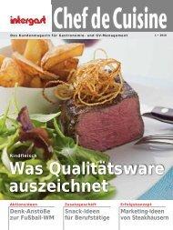 Was Qualitätsware auszeichnet - Intergast