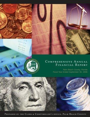 Comprehensive Annual Financial Report FY 2006 - Clerk ...