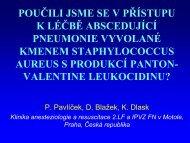 Poučili jsme se v přístupu k léčbě abscedující pneumonie vyvolané...