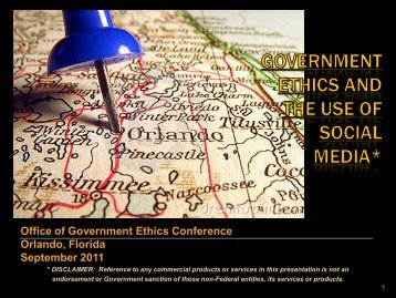 Social Media and the Gov't - US Office of Government Ethics