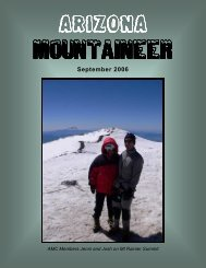 September 2006 - Arizona Mountaineering Club
