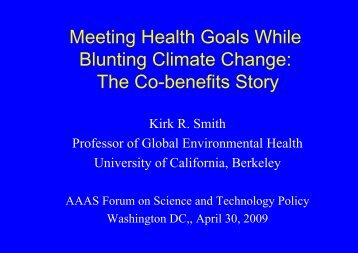 Climate change - Environmental Health Sciences, UC Berkeley ...