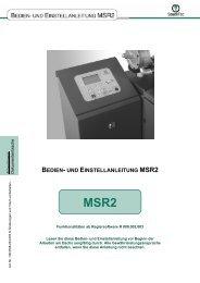 Bedien- und Einstelleinleitung Dachs MSR 2 - Senertec-service.de