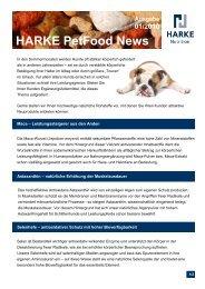 Ausgabe 01/2010 HARKE PetFood News