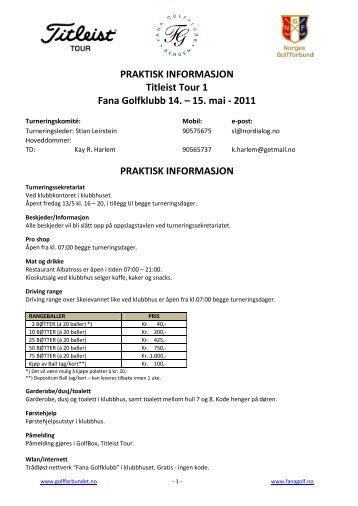praktisk informasjon - Fana Golfklubb