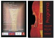 programa concert 09/01/10 - Ajuntament de Capdepera