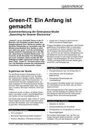 Green-IT: Ein Anfang ist gemacht - Greenpeace