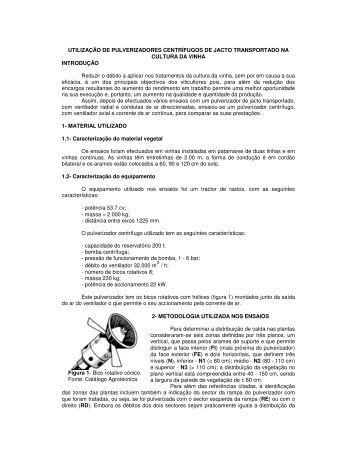 UTILIZAÇÃO DE PULVERIZADORES CENTRÍFUGOS DE JACTO ...