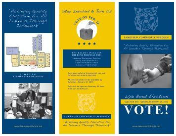 2013 Bond Election - Lakeview Community Schools