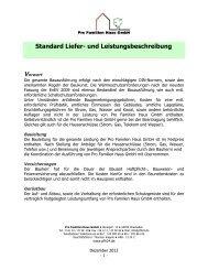 Standard Liefer- und Leistungsbeschreibung - Pro Familien Haus