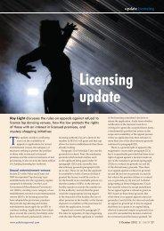 Licensing Update October 2012 - St John's Chambers
