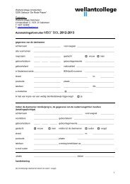 Aanmeldingsformulier MBO BOL 2011-2012 - Wellantcollege