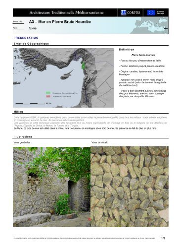 A3 – Mur en Pierre Brute Hourdée