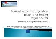 Opracowanie: Małgorzata Jakubczak