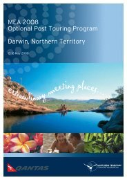 MEA 2008 Optional Post Touring Program Darwin, Northern Territory