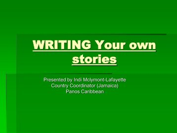 WRITING Your own stories - Eco-Index