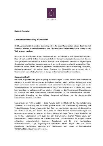 Liechtenstein Marketing startet durch
