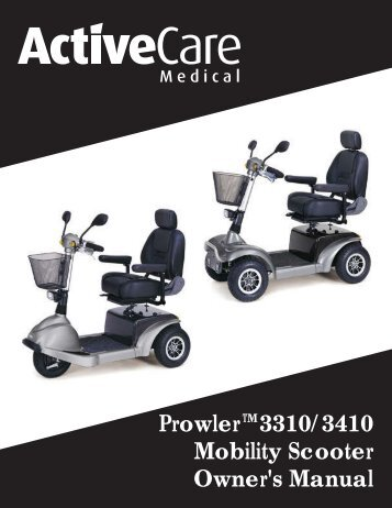 ActiveCare Prowler Scooter User Manual - ActiveForever