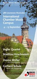 International Chamber Music Campus - Jeunesses Musicales ...