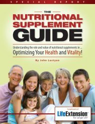 NUTRITIONAL - Life Extension Product Supplies and Information