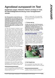 Factsheet Agrodieseltest - Greenpeace